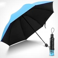 红叶伞遮阳伞防紫外线黑胶防晒晴雨两用太阳伞女糖果色折叠雨伞大 黑胶防晒 晴雨两用 糖果色 都市风情